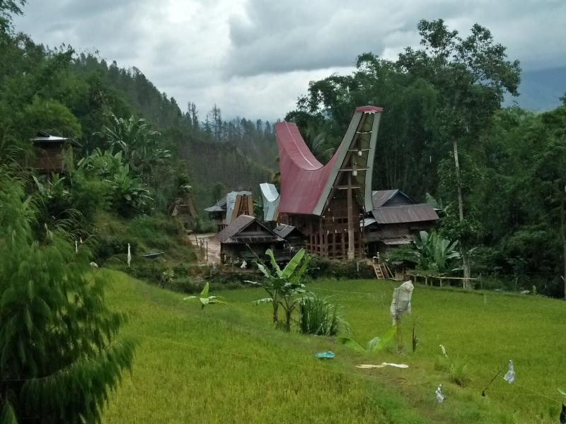 Pemanikan village with panorama